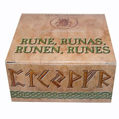 Руны из Белого Оникса + коробочка