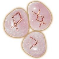 Руны из розового кварца + коробочка