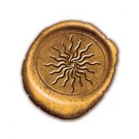 Набор из трех восковых печатей-символы : солнце, Викка, буддийский узел